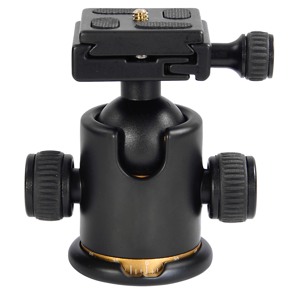 360 Degree Swivel Ball Head w/ Quick Release Plate For Tripod DSLR Camera
