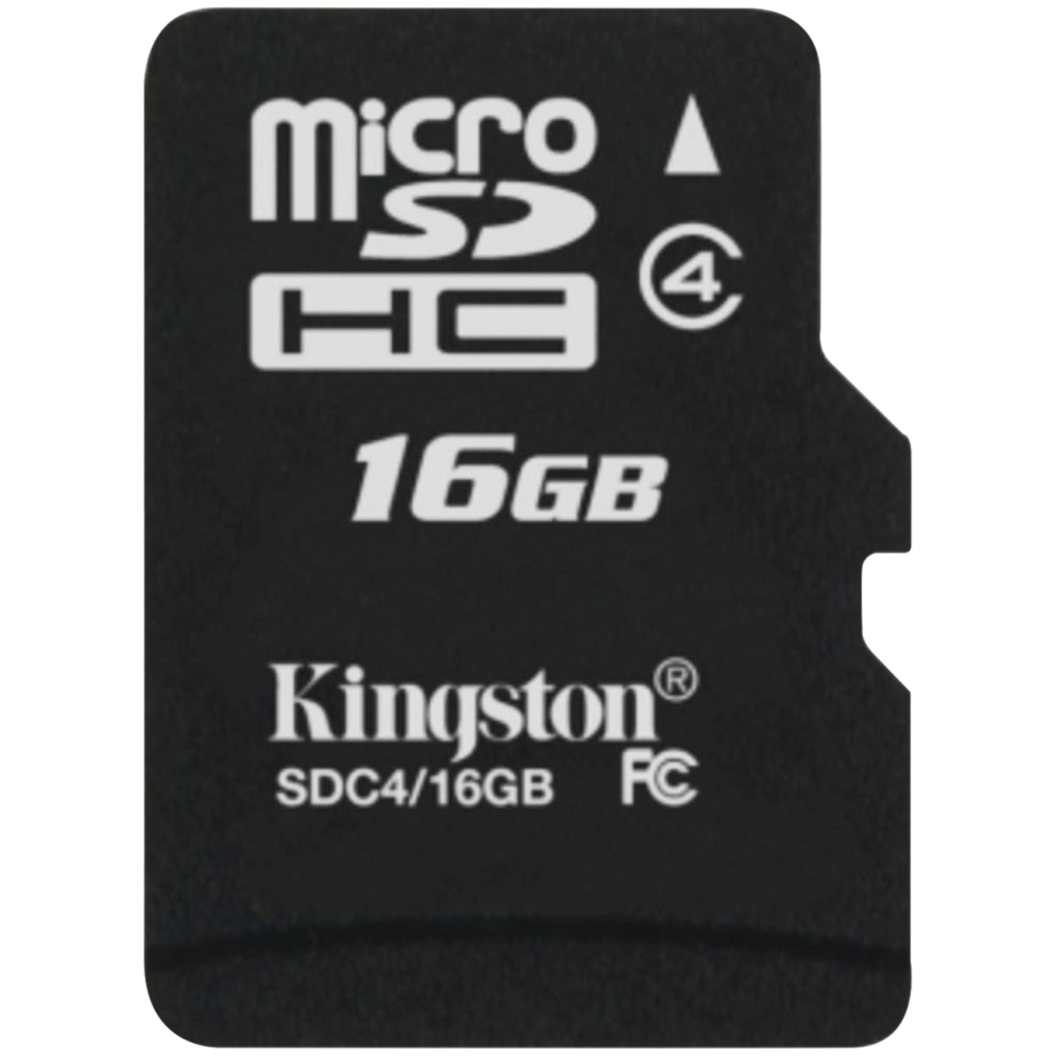 Kingston SDC4/16GB Class 4 microSDHC Card (16GB with Adapter)