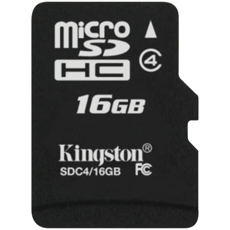 Kingston SDC4/16GB Class 4 microSDHC Card (16GB with (Sandisk 16gb Sdhc Memory Card Extreme Class 10)