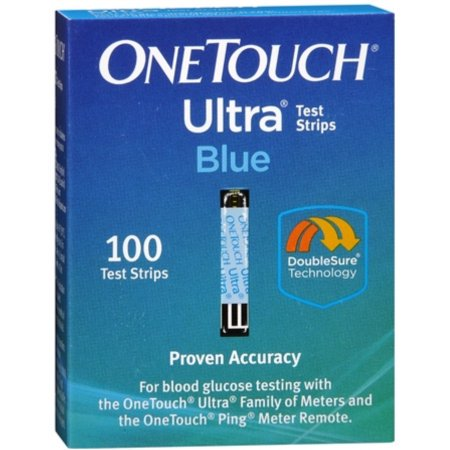 One Touch Ultra Blue Blood Glucose Test Strips 200 Count (2 Boxes of