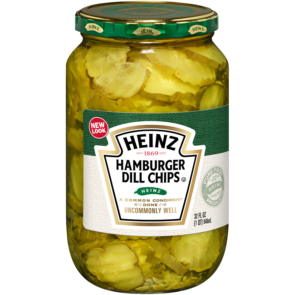 Heinz Hamburger Dill Chips Pickles, 32 Oz by Kraft Foods