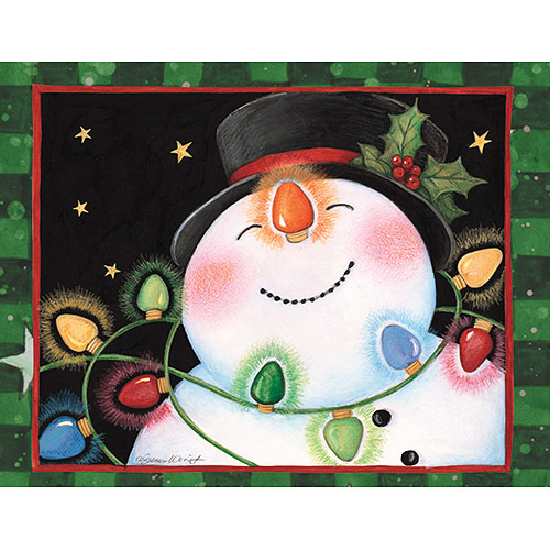 "Lang ""Snowman Lights"" Assorted Boxed Christmas Cards"
