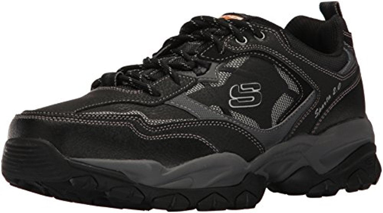 52700 W Wide Fit Black Skechers Shoe Men Memory Foam Sport Train Comfort Sneaker by Skechers