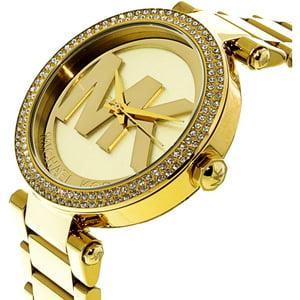 Michael Kors Parker Logo Glitz Gold-Tone Women