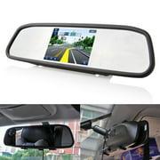 "Podofo 5"" Car Wireless Car Backup Camera TFT LCD Mirror Rear View Monitor with Waterproof IR Night Vision Reverse Camera"