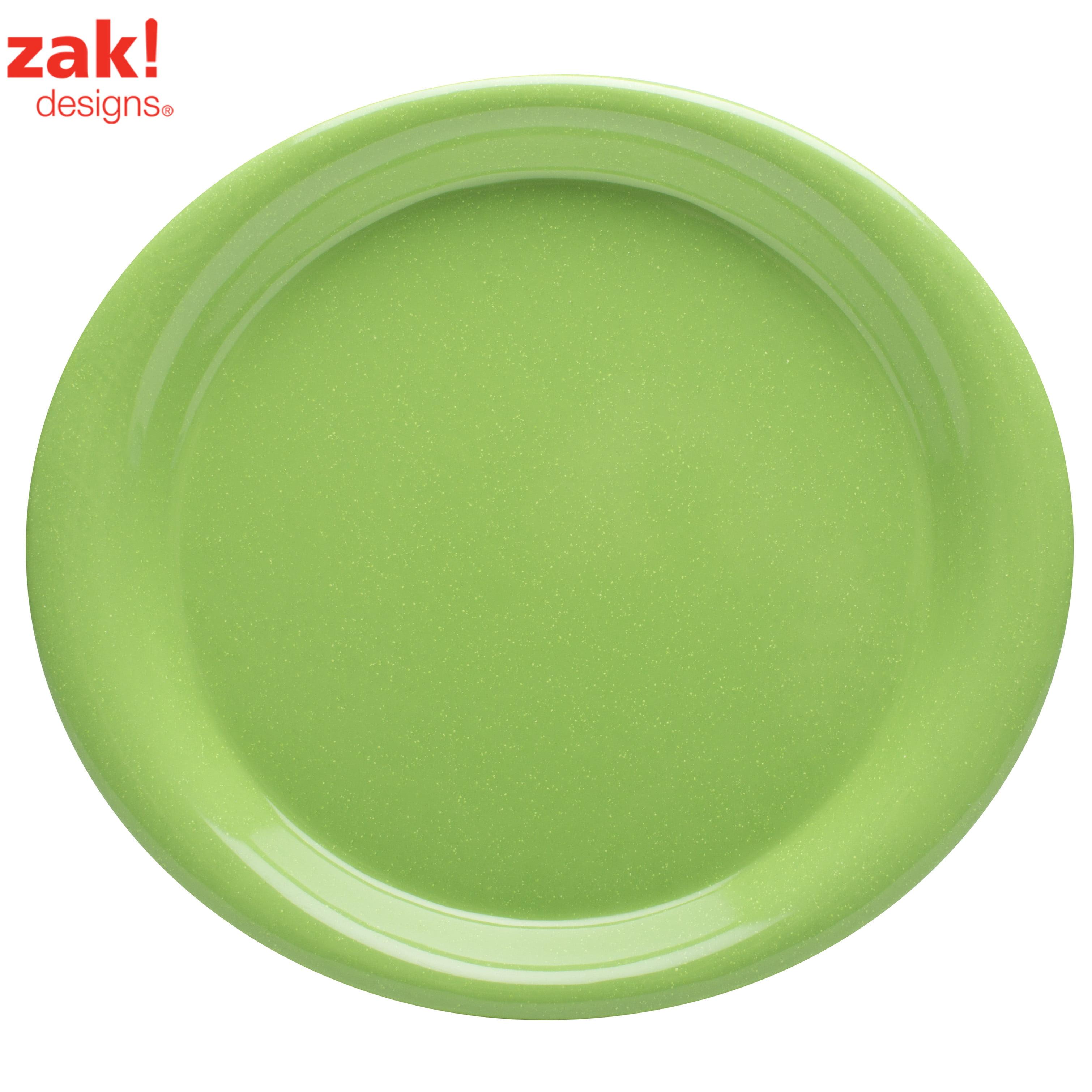 Zak Designs Zakwave Microwave Safe Dinner Plate Palm Green