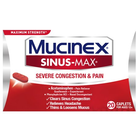 Mucinex Sinus Max Severe Congestion Relief  20 Count
