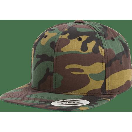 41c7162044d0c The Hat Pros Snapbacks Flexfit Pro-Style Snapback Hats w  Green Underbill  6089M (Tiger Camo) - Walmart.com