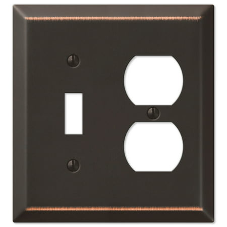 Single Toggle Single Duplex Wall Switch Plate Cover, Oil Rubbed Bronze