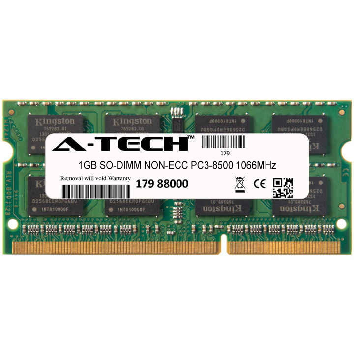 1GB Module PC3-8500 1066MHz NON-ECC DDR3 SO-DIMM Laptop 204-pin Memory Ram
