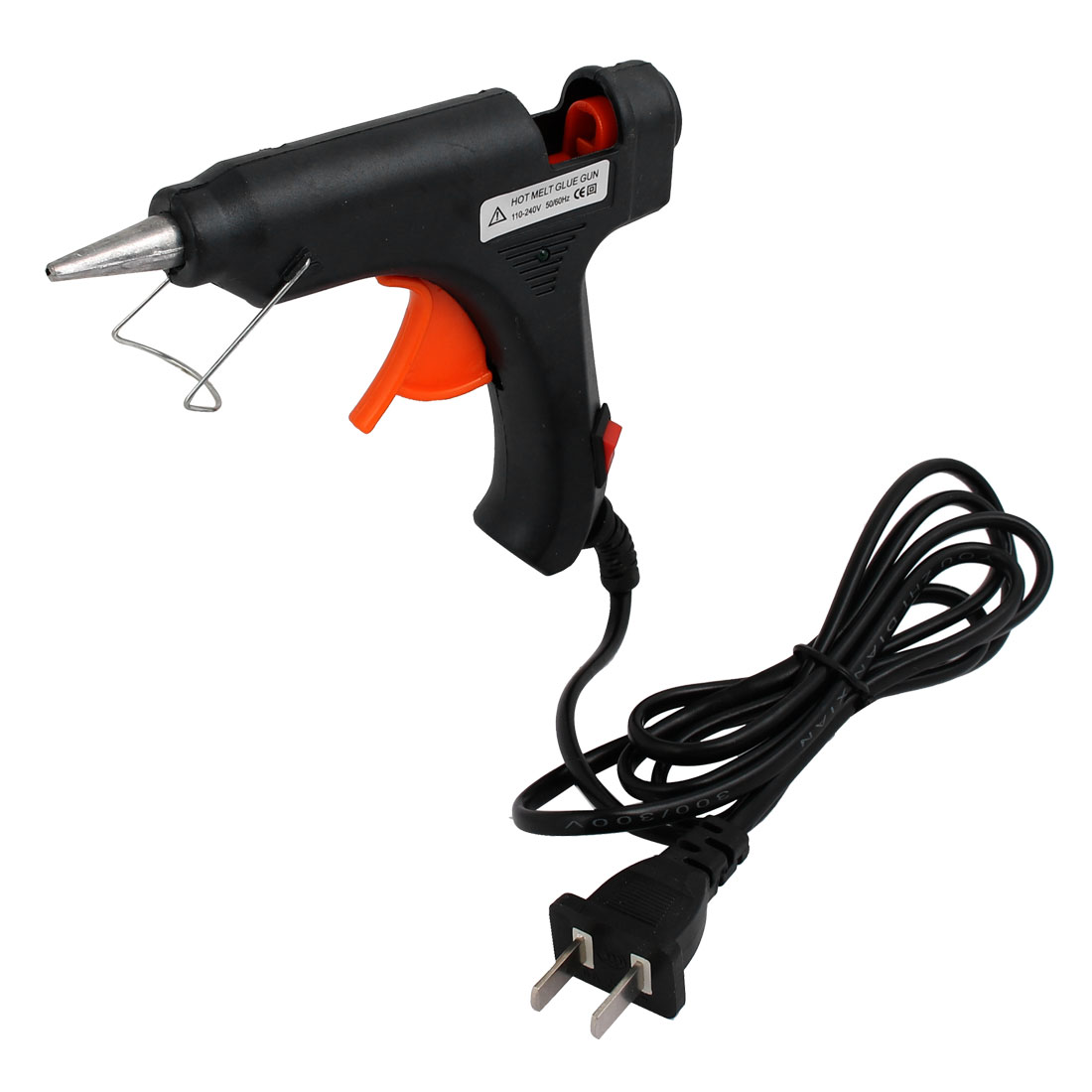 Unique Bargains AC110-240V 20W Electric Heating Hot Melt Glue  US Plug Repair Tool Black