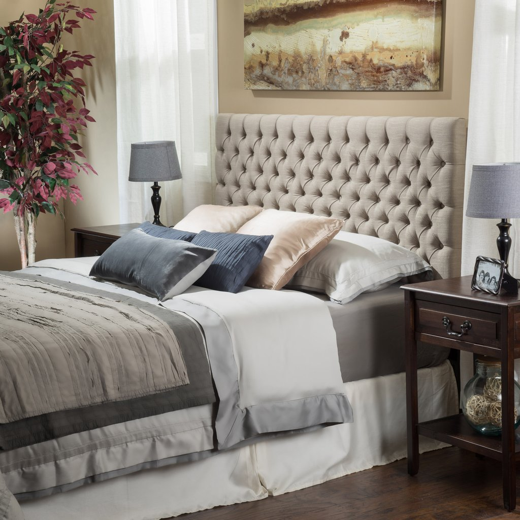 Denise Austin Home Fairfield Adjustable Button Tufted Headboard