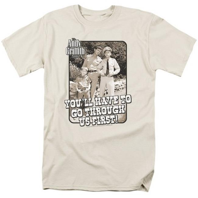 Andy Griffith-Through Us - Short Sleeve Adult 18-1 Tee - Cream, Extra Large - image 1 of 1