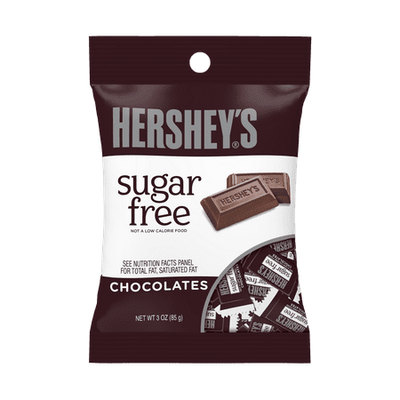 (4 Pack) Hershey's, Sugar Free Chocolate Candy, 3 (Diabetic Sugar Free Candy)