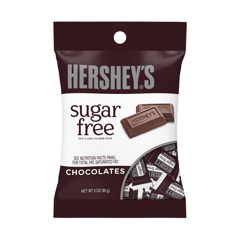 (4 Pack) Hershey's, Sugar Free Chocolate Candy, 3 Oz