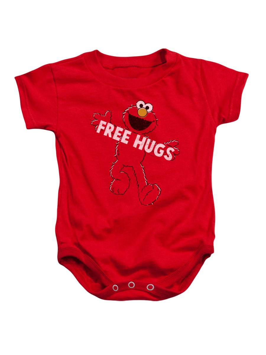 Sesame Street Classic Children's TV Show Elmo free Hugs Infant Romper Snapsuit
