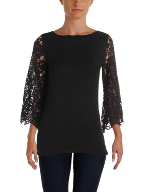 760ccb3ca67 Product Image Lauren Ralph Lauren Womens Flare Sleeves Lace Sleeves  Pullover Top
