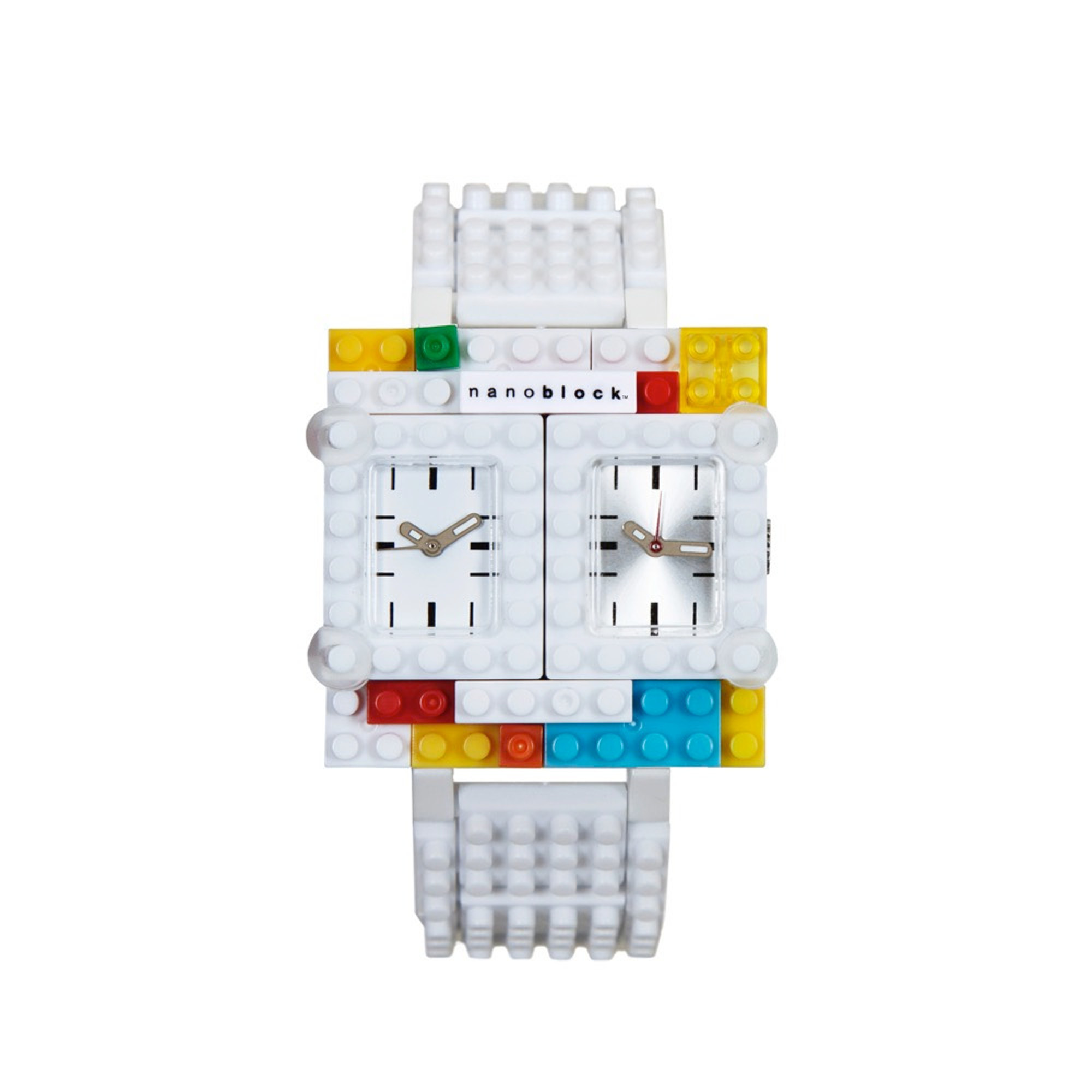 Nanoblocktime Traveler Watch, White by Beta Enteprises Inc.