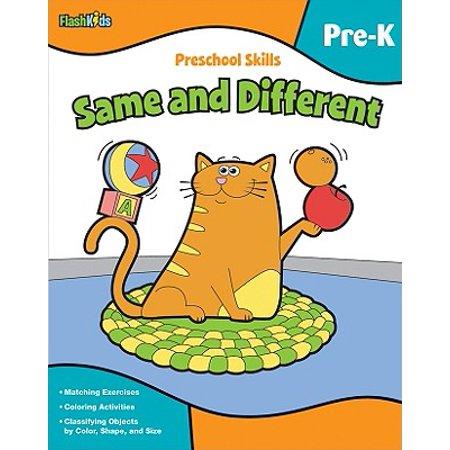 Preschool Skills Same and Different (Same Different Halloween)