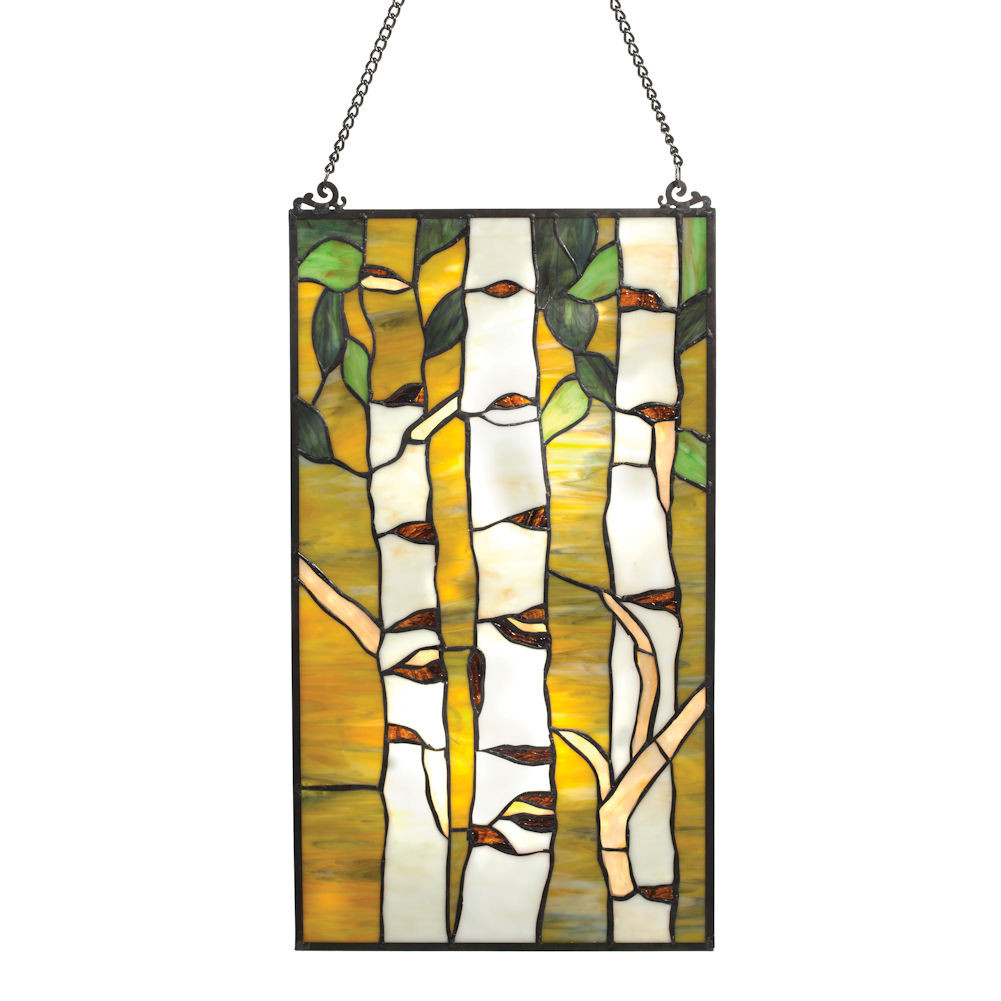 Birches Art Glass Panel - Window Sun Catcher - 12\