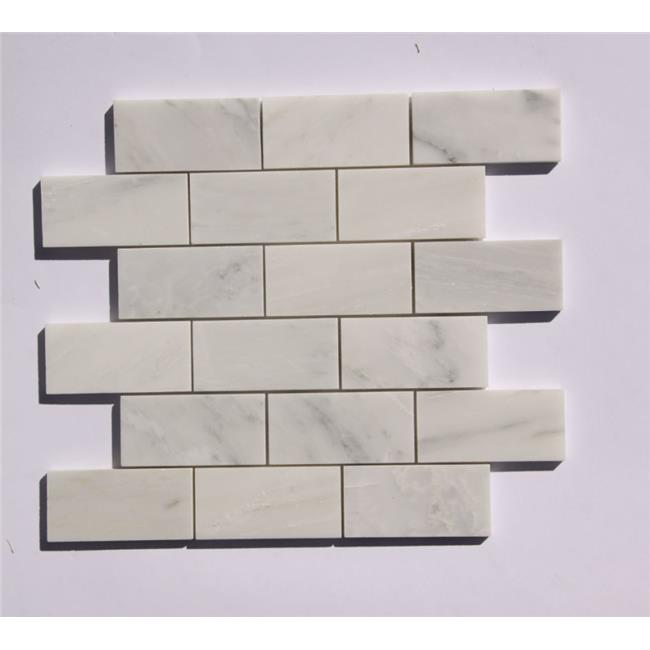Legion Furniture MS-STONE14 Mosaic Mix with Stone Wall Tile, White & Gray