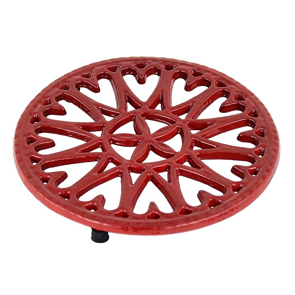 7-Inch Sunburst, Cast Iron Trivet, Measures 7-inch dia By...