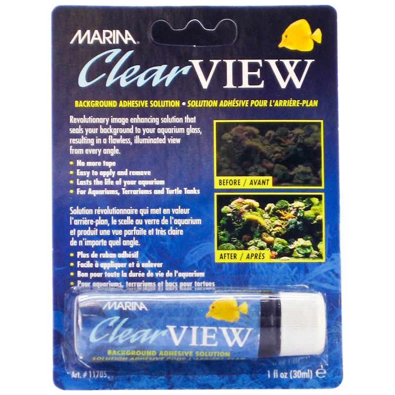 Marina Clear View Aquarium Background Adhesive Solution by Rolf C Hagen USA Corp