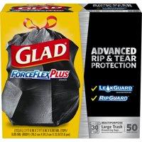 Glad ForceFlexPlus Large Trash Bags, 30 Gallon, 50 Bags
