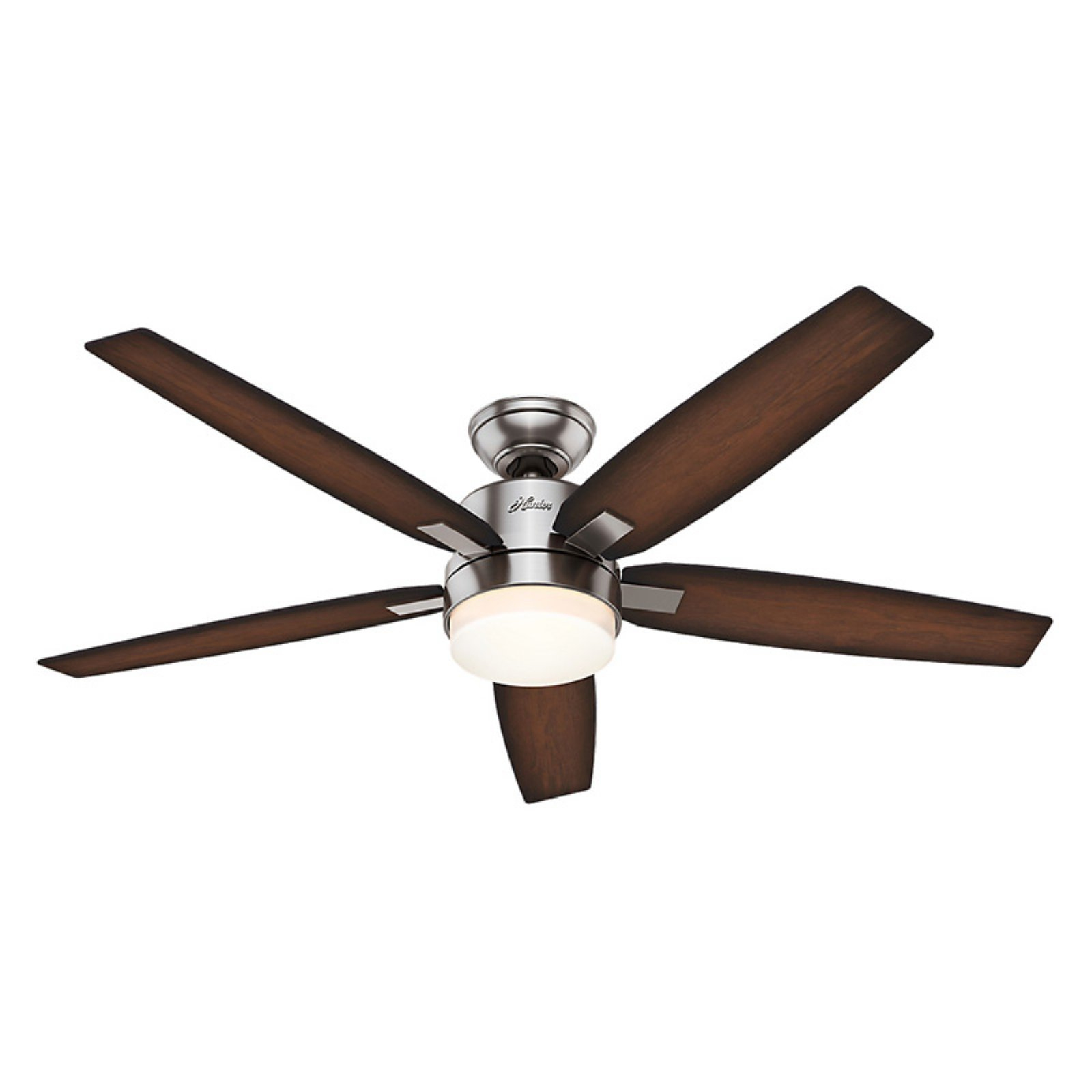 Hunter 59039 Windemere 54 in. Indoor Ceiling Fan with Light and Remote Brushed Nickel by Hunter