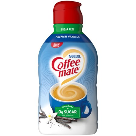 COFFEE MATE Sugar Free French Vanilla Liquid Coffee Creamer 64 fl  oz   Bottle