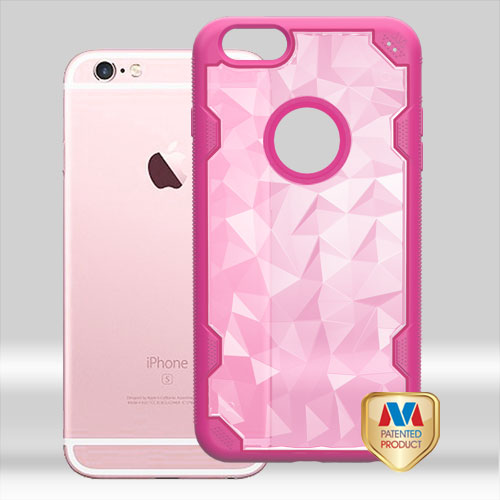 For iPhone 6S Plus/6 Plus Transparent Challenger Hybrid Protector Cover Case