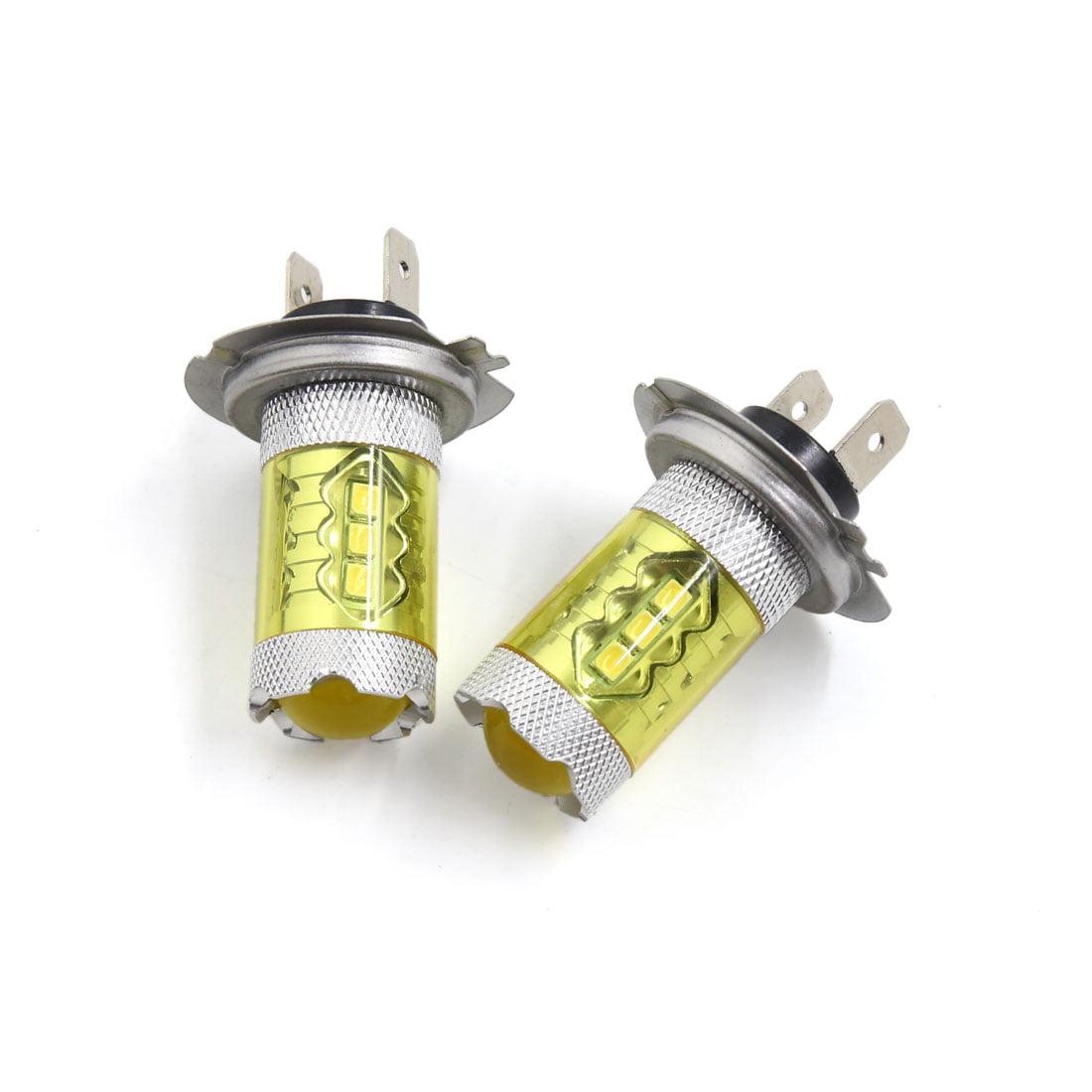 2Pcs 2835 H7  Fog Driving Headlight Yellow Light Lamp Bulbs for Car