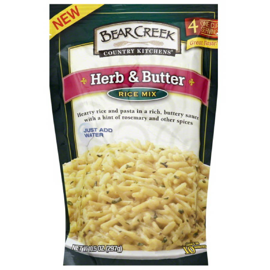 Bear Creek Country Kitchens Herb & Butter Rice Mix, 10.5 oz, (Pack of 6)