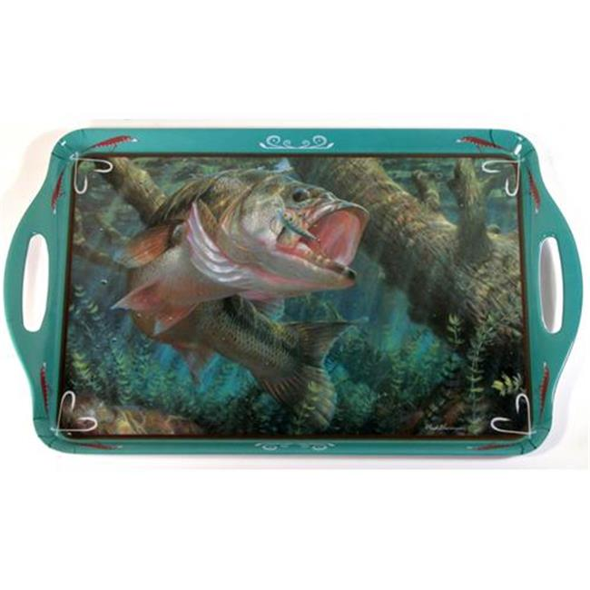 MotorHead Products MHP-WW-0103 Large Mouth Bass Wild Wing Serving Tray - 19 x 11. 5
