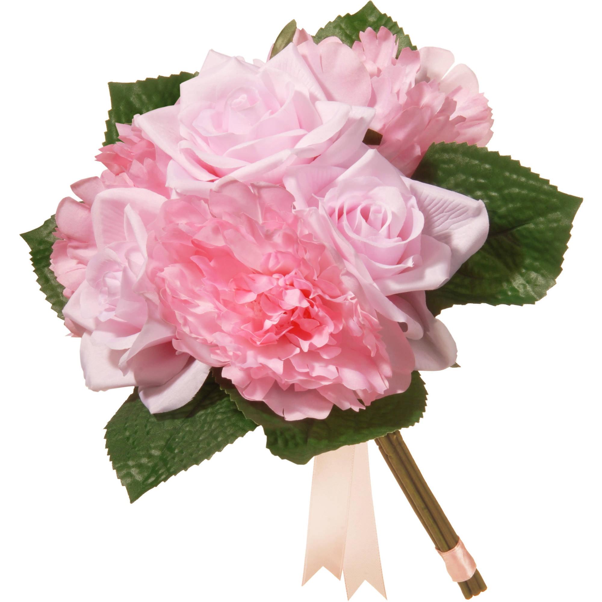 "12.2"" Pink Rose and Peony Bundle"