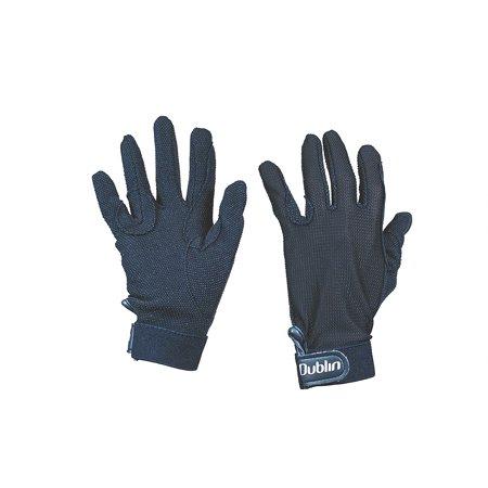 Dublin Everyday Mesh Back Track Riding Gloves (Black, Medium)