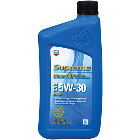 Chevron supreme 5w30 gf4 motor oil 1 qt for Motor oil out of clothes