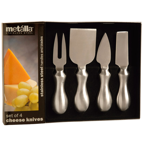 Prodyne Stainless Steel Cheese Tools, Set of 4