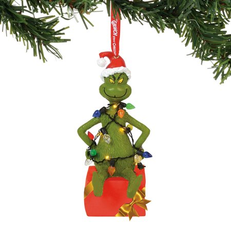Department 56 The Grinch 6000308 Grinch In Lit Lights Ornament - Grinch Lights