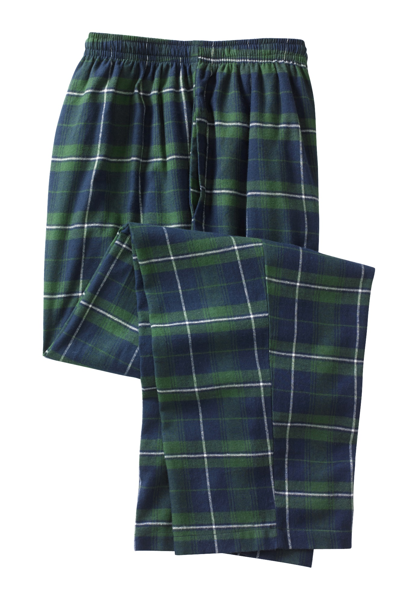 Kingsize Men's Big & Tall Flannel Plaid Lounge Pants