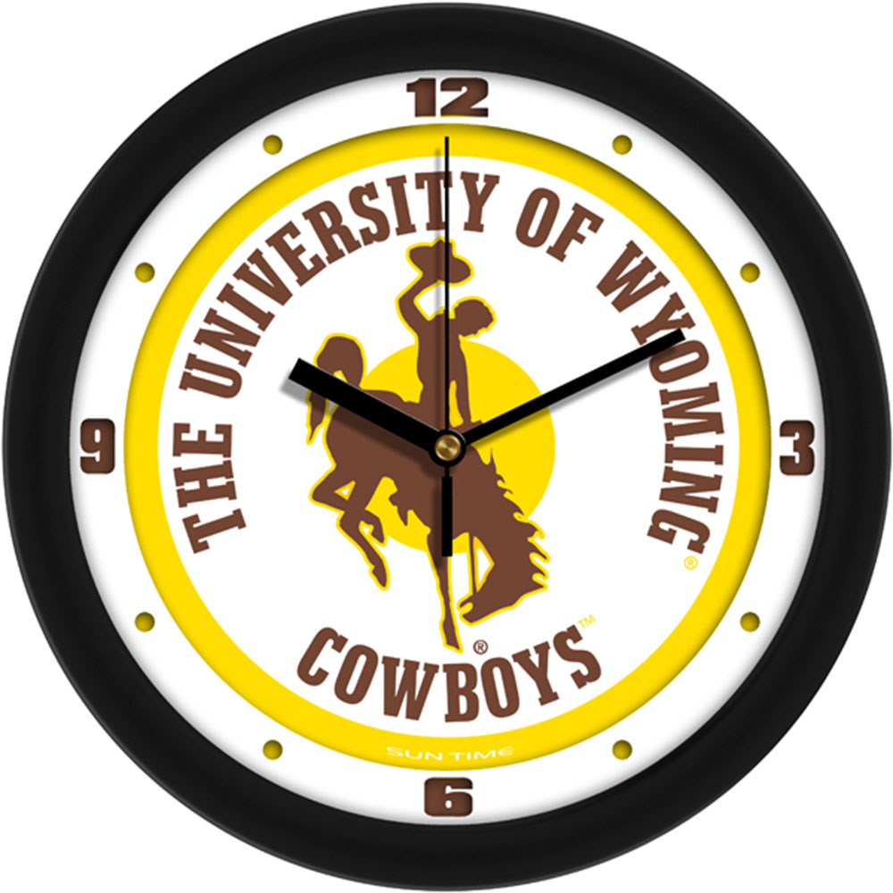 Wyoming Cowboys NCAA Wall Clock
