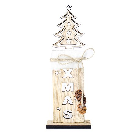 Christmas Tree Decorations Wooden Shapes Ornaments Craft Xmas - Craft Christmas Gifts