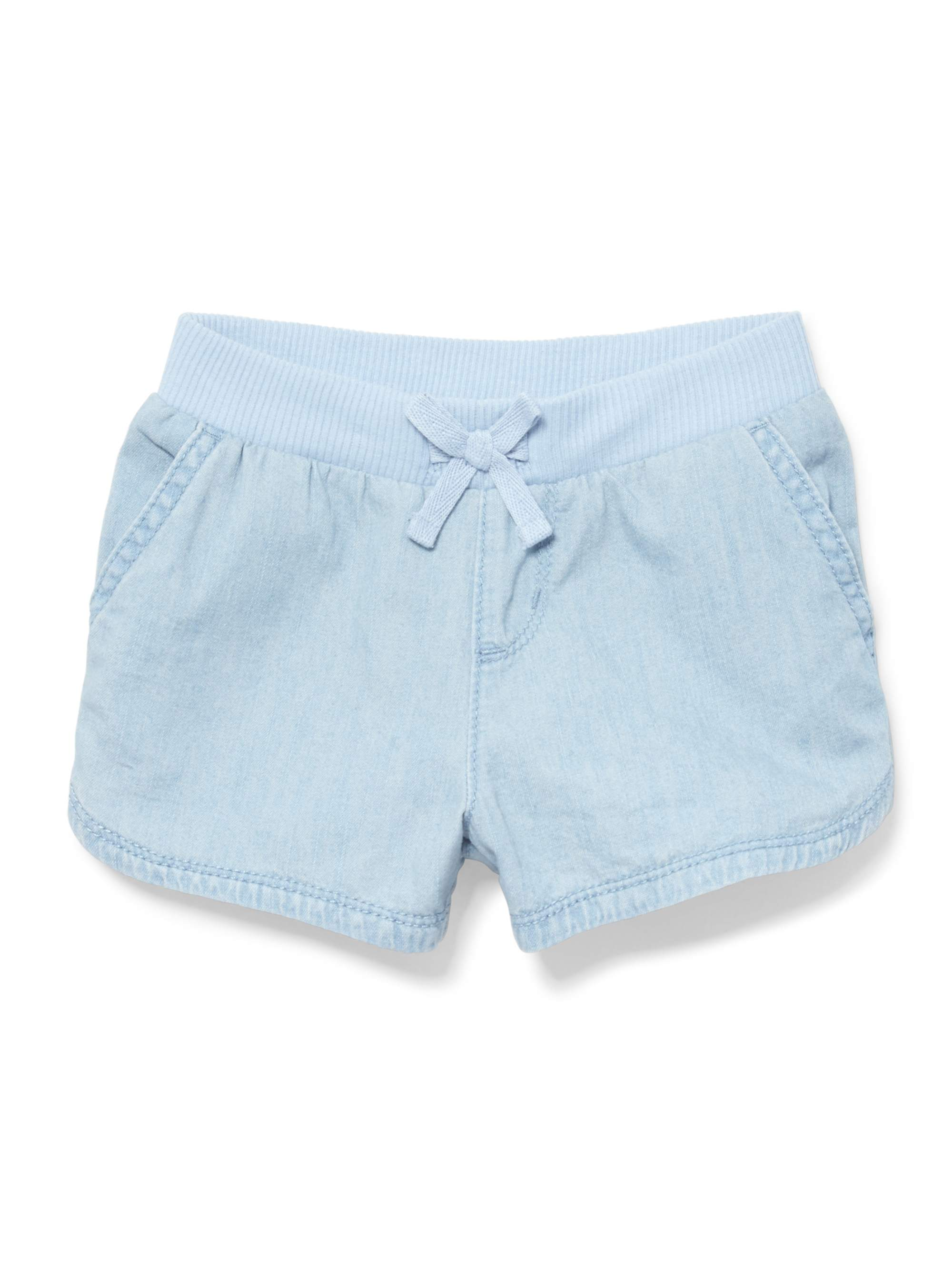 Chambray Knit Shorts (Baby Girls & Toddler Girls)