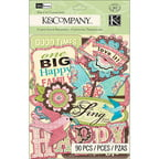 K & Company Blossom Cardstock Die-Cuts, 90-Pack, Words and Icons