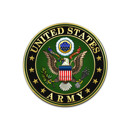 United States Army Logo Birthday Edible Icing Image for 6 inch round cake (Army Cakes)