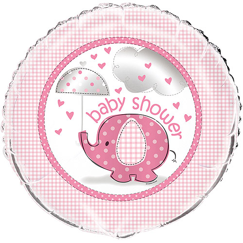 "18"" Foil Pink Elephant Baby Shower Balloon"