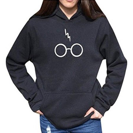 Women's Autumnn Fashion Long Sleeve Pullover Harry Potter Glasses](Potter Glasses)