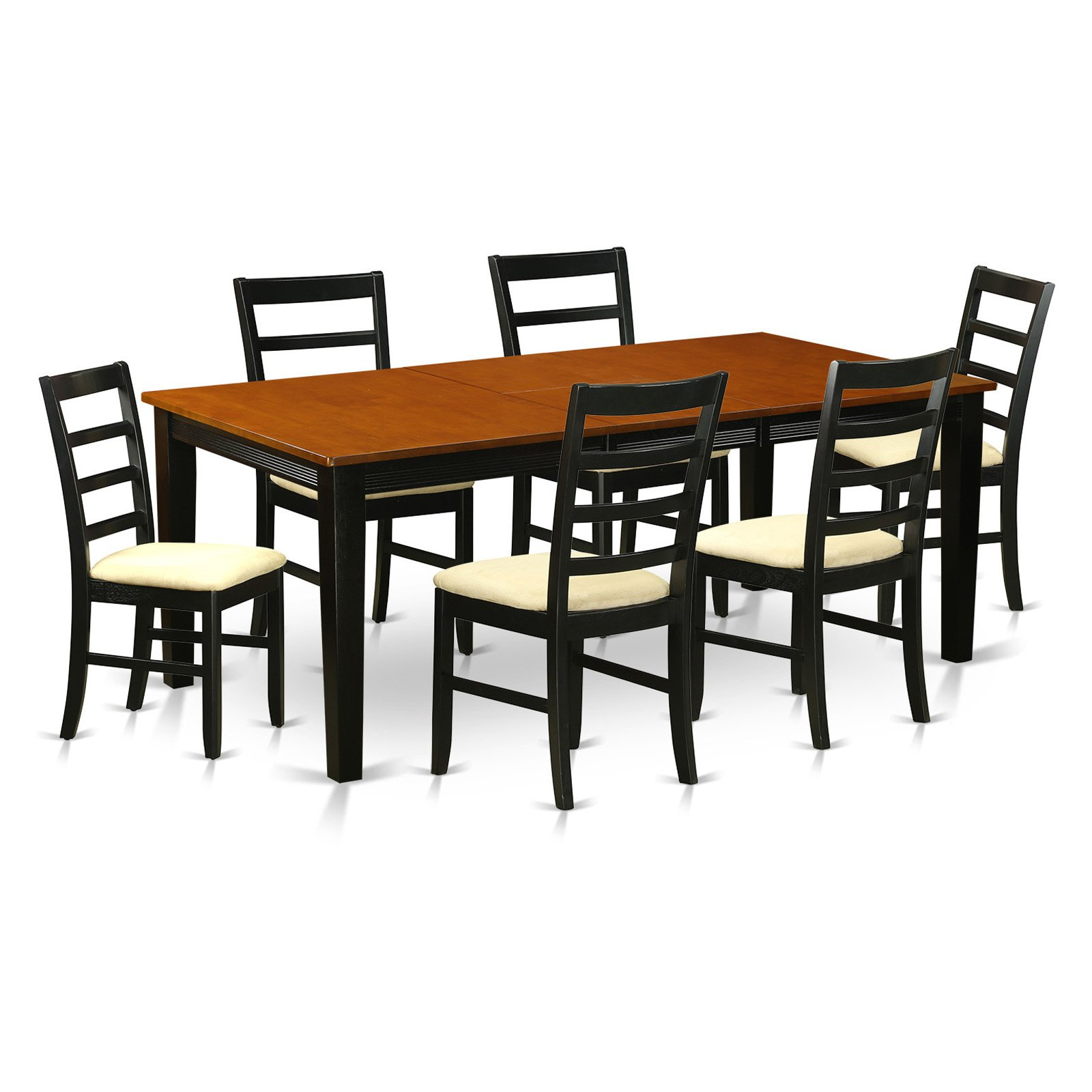 East West Furniture Quincy 7-Piece Shaker Dining Table Set