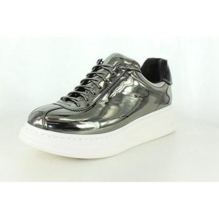 31c4c7b596ca5 Jeffrey Campbell Womens Velocity Pewter Mirror Sneaker - 8