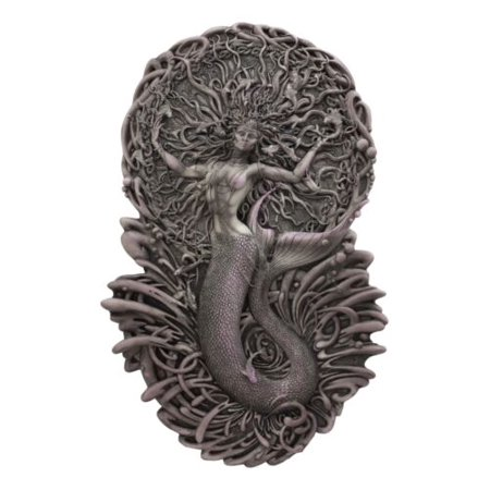 Ebros Celtic Irish Mythology Mermaid Triple Goddess Aine Wall Decor Deity of The Sun Summer Wealth Love Fertility and Sovereignty Hanging Plaque Figurine Mother Maiden Crone Arts by Maxine Miller ()